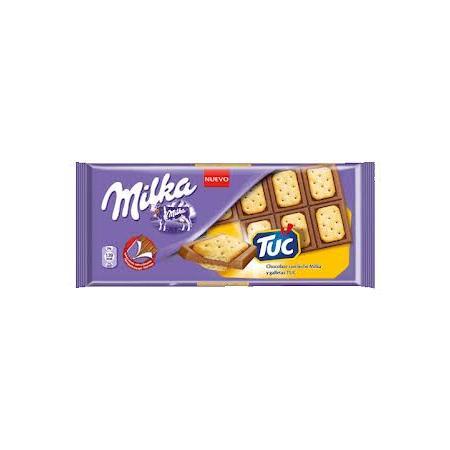 TUC, mleczna czekolada z krakersami marki Milka - zdjęcie nr 1 - Bangla