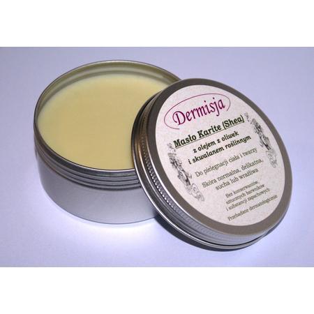 Masło Karite Shea z olejem z oliwek i skwalanem roślinnym marki Dermisja - zdjęcie nr 1 - Bangla