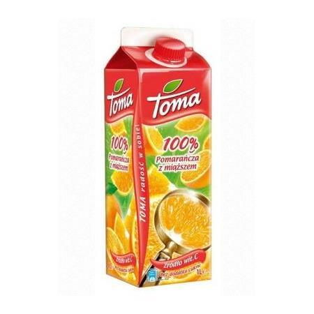 Sok 100%, Różne opakowania i smaki marki Toma - zdjęcie nr 1 - Bangla