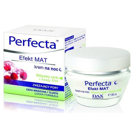 Perfecta, Efekt Mat, Krem zwężający pory na noc marki Dax Cosmetics - zdjęcie nr 1 - Bangla