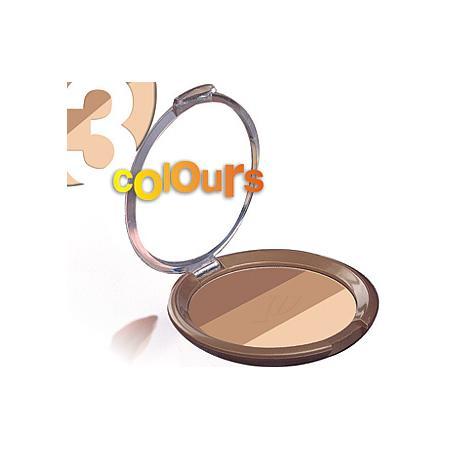 3 Colors Bronzing Powder SPF 15, Puder brązujący trójkolorowy marki Golden Rose - zdjęcie nr 1 - Bangla