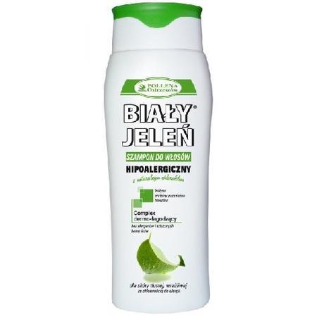 Biały Jeleń, Hipoalergiczny szampon do włosów z naturalnym chlorofilem marki Pollena Ostrzeszów - zdjęcie nr 1 - Bangla