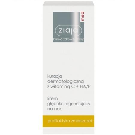 Med, Kuracja dermatologiczna z witaminą C + HA/P krem głęboko regenerujący na noc marki Ziaja - zdjęcie nr 1 - Bangla