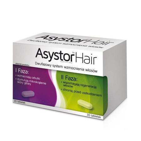 Asystor Hair dwufazowy system wzmocnienia włosów, 30 tabl + 30 tabl marki Aflofarm - zdjęcie nr 1 - Bangla