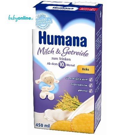 Humana, Gotowe do picia mleko ze zbożem i herbatnikiem marki Humana - zdjęcie nr 1 - Bangla