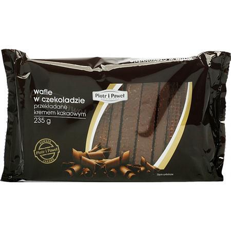Wafle w czekoladzie przekładane kremem kakaowym marki Piotr i Paweł - zdjęcie nr 1 - Bangla