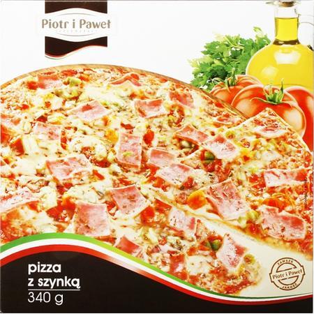 Pizza z szynką, z salami, z pieczarkami, ze szpinakiem i twarogiem, cztery sery marki Piotr i Paweł - zdjęcie nr 1 - Bangla