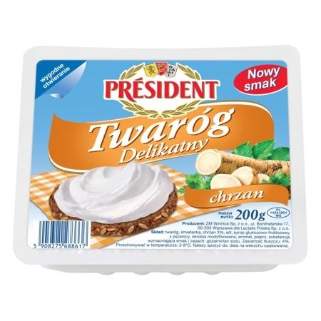 Twaróg Delikatny - różne smaki marki President - zdjęcie nr 1 - Bangla