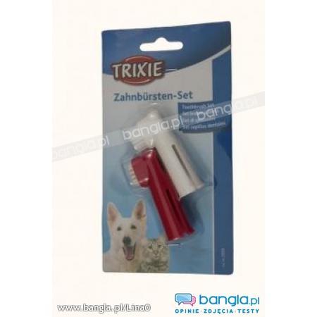 Szczoteczka do zębów dla psów, nakładana na palec marki Trixie - zdjęcie nr 1 - Bangla
