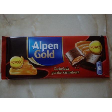 Czekolada gorzka karmelowa marki Alpen Gold - zdjęcie nr 1 - Bangla