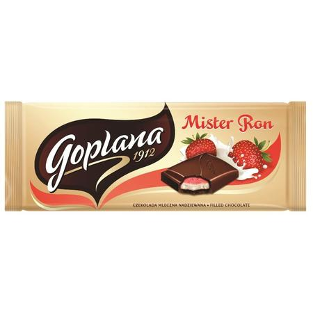 Mister Ron czekolada mleczna nadziewana, różne smaki marki Goplana - zdjęcie nr 1 - Bangla