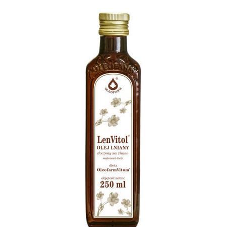 LenVitol, olej lniany tłoczony na zimno marki Oleofarm - zdjęcie nr 1 - Bangla