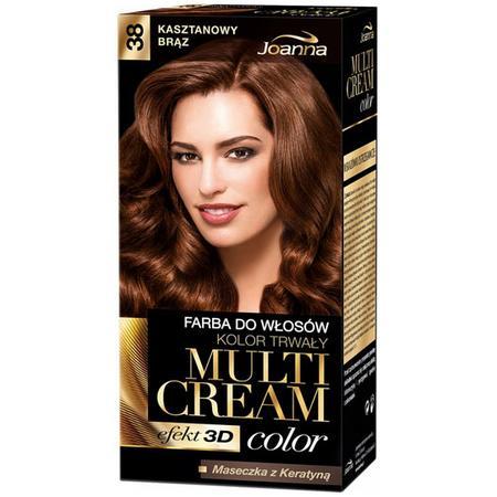 Multi Cream Color, Efekt 3D, farba do włosów, kolor trwały, różne odcienie marki Joanna - zdjęcie nr 1 - Bangla