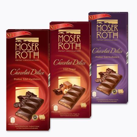 Chocolat Delice, czekolada nadziewana marki Moser Roth - zdjęcie nr 1 - Bangla