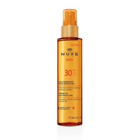 Nuxe Sun, Tanning Oil SPF 30, Brązujący olejek do opalania twarzy i ciała marki Nuxe Paris - zdjęcie nr 1 - Bangla