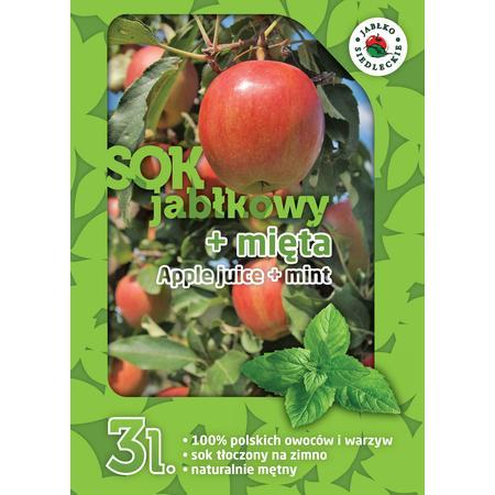 Sok jabłkowy z miętą 3L NFC, 100% naturalny sok bez konserwantów marki Jabłko Siedleckie - zdjęcie nr 1 - Bangla