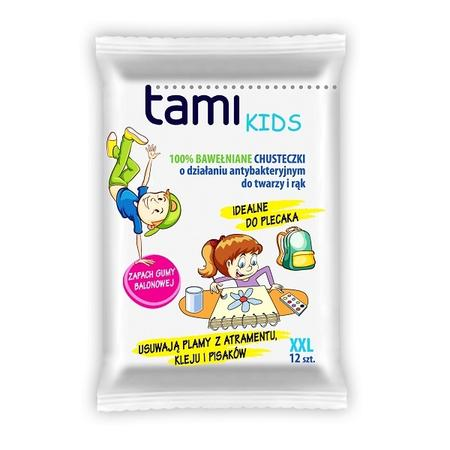 Tami Kids, Chusteczki nawilżane 100% bawełniane antybakteryjne marki EcoWipes - zdjęcie nr 1 - Bangla