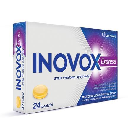 Inovox Express, Pastylki do ssania na ból gardła marki USP Zdrowie - zdjęcie nr 1 - Bangla