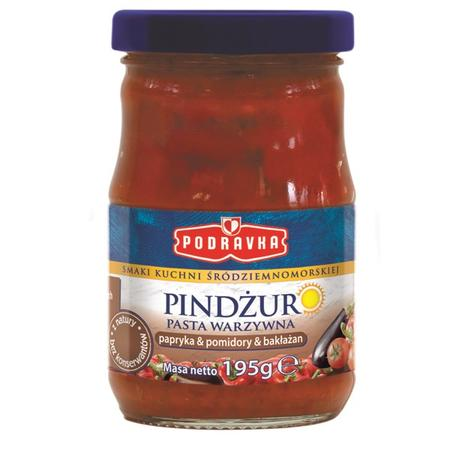 Smaki kuchni śródziemnomorskiej, Pindżur Pasta warzywna papryka, pomidory, bakłażan marki Podravka - zdjęcie nr 1 - Bangla