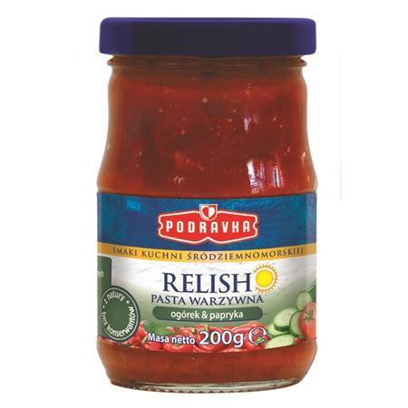Smaki kuchni śródziemnomorskiej, Relish Pasta warzywna ogórek, papryka marki Podravka - zdjęcie nr 1 - Bangla