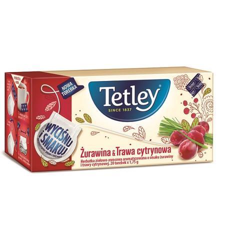 Żurawina & Trawa cytrynowa, Herbata ziołowo-owocowa marki Tetley - zdjęcie nr 1 - Bangla
