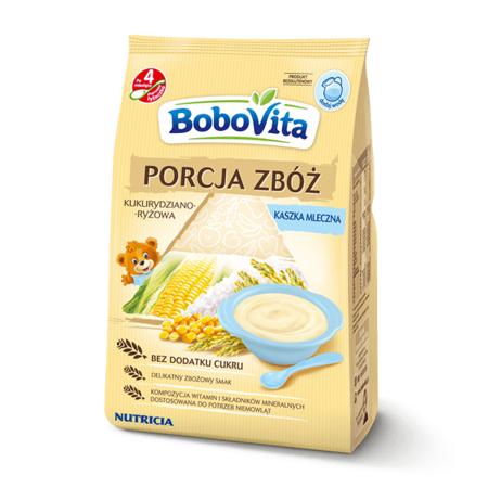 Porcja zbóż, Kaszka mleczna kukurydziano-ryżowa marki BoboVita - zdjęcie nr 1 - Bangla