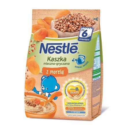 Kaszka mleczno-gryczana z morelą, dla niemowląt po 6. miesiącu życia marki Kaszki Nestlé - zdjęcie nr 1 - Bangla
