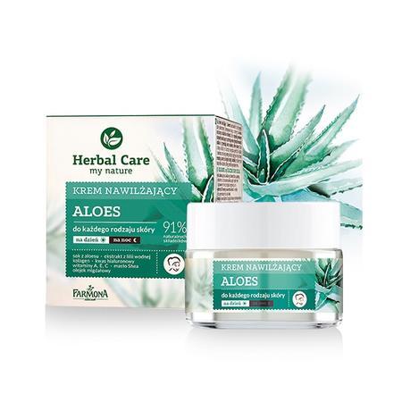 Herbal Care, Krem nawilżający do każdego rodzaju skóry Aloes marki Farmona - zdjęcie nr 1 - Bangla