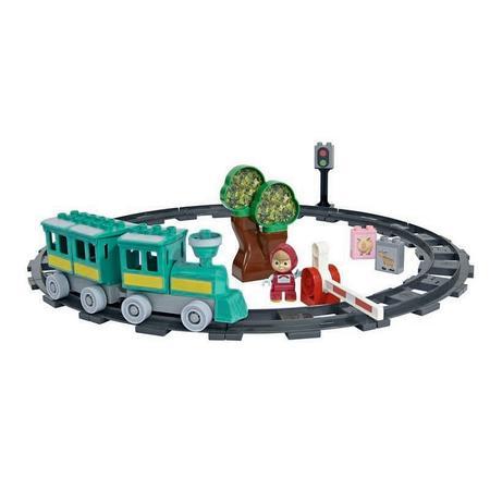Simba, Pociąg Maszy (kolejka na torach, klocki) marki Simba - zdjęcie nr 1 - Bangla