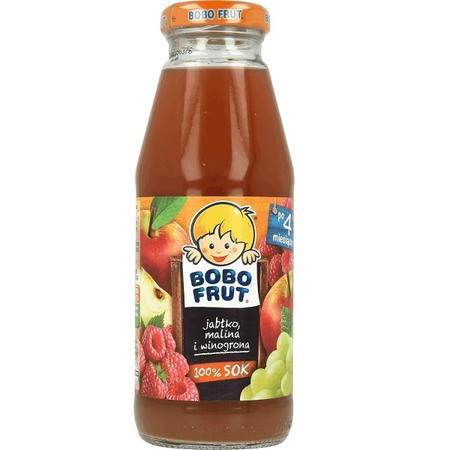 BoboFrut 100% sok, jabłko, malina i winogrona marki Kaszki Nestlé - zdjęcie nr 1 - Bangla