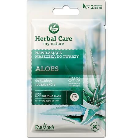 Herbal Care, Nawilżająca maseczka do twarzy Aloes marki Farmona - zdjęcie nr 1 - Bangla