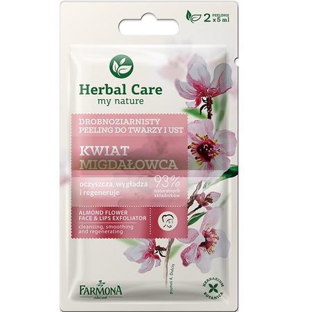 Herbal Care, Drobnoziarnisty peeling do twarzy i ust Kwiat migdałowca marki Farmona - zdjęcie nr 1 - Bangla