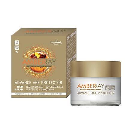 Amberray Advance Age Protector, Krem rozjaśniająco-wygładzający 30 SPF na dzień marki Farmona - zdjęcie nr 1 - Bangla