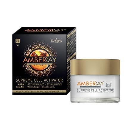 Amberray Supreme Cell Activator, Krem rozjaśniająco-stymulujący na noc marki Farmona - zdjęcie nr 1 - Bangla