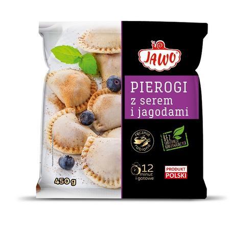 Pierogi z serem i jagodami, danie mrożone marki Jawo - zdjęcie nr 1 - Bangla
