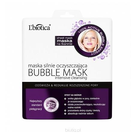 Bubble Mask, Maska na tkaninie silnie oczyszczająca marki L'biotica - zdjęcie nr 1 - Bangla