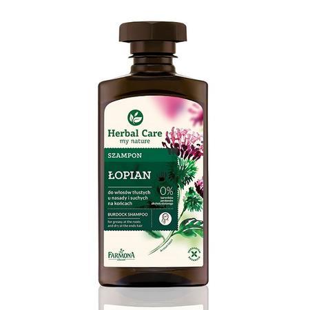Herbal Care, Szampon do włosów tłustych u nasady i suchych na końcach Łopian marki Farmona - zdjęcie nr 1 - Bangla