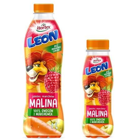 Leon 100% marchewek i owoców, Sok Jabłko, marchew, malina marki Hortex - zdjęcie nr 1 - Bangla