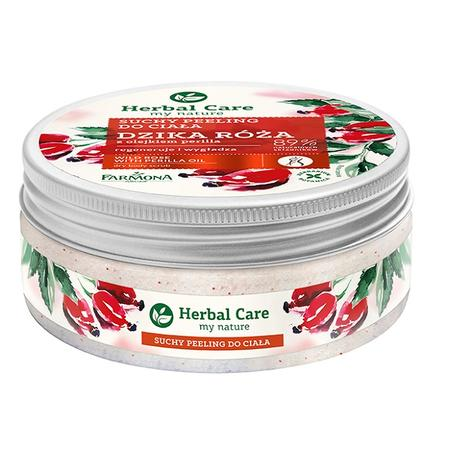 Herbal Care, Suchy peeling cukrowy do ciała Dzika Róża marki Farmona - zdjęcie nr 1 - Bangla