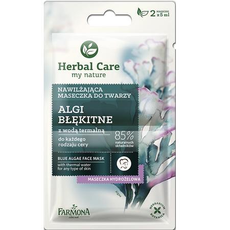Herbal Care, Nawilżająca maseczka do twarzy Algi Błękitne z wodą termalną marki Farmona - zdjęcie nr 1 - Bangla