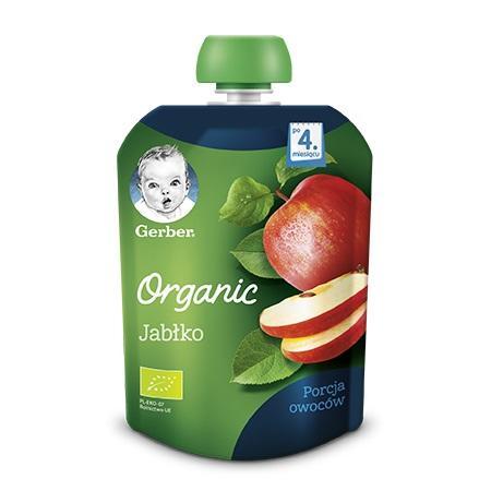 Gerber Organic, Jabłko - owocowy deser dla niemowląt marki Dania gotowe Gerber - zdjęcie nr 1 - Bangla