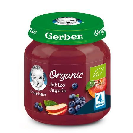 Gerber Organic, Jabłko Jagoda - owocowy mus dla niemowląt marki Dania gotowe Gerber - zdjęcie nr 1 - Bangla