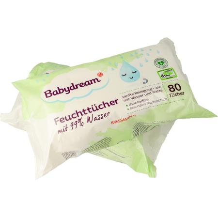 Babydream chusteczki nawilżane w 99% nasączane wodą marki Rossmann - zdjęcie nr 1 - Bangla