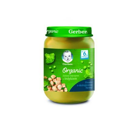 Gerber Organic Zielone warzywa z indykiem marki Gerber - zdjęcie nr 1 - Bangla