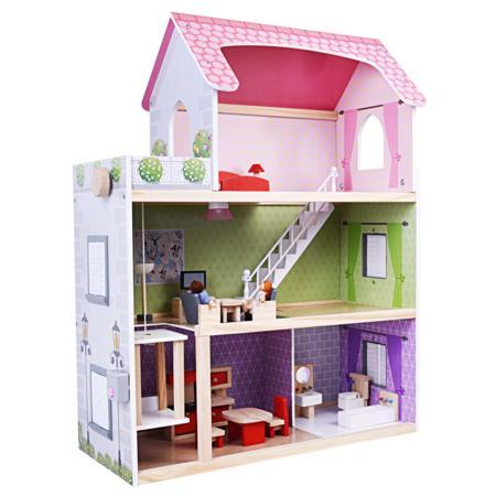 Drewniany domek dla lalek marki Mini Matters - zdjęcie nr 1 - Bangla